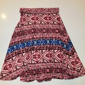 LuLaRoe Azure tribal print skirt